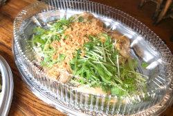 大皿用柔らか蒸し鶏のねぎ醤油